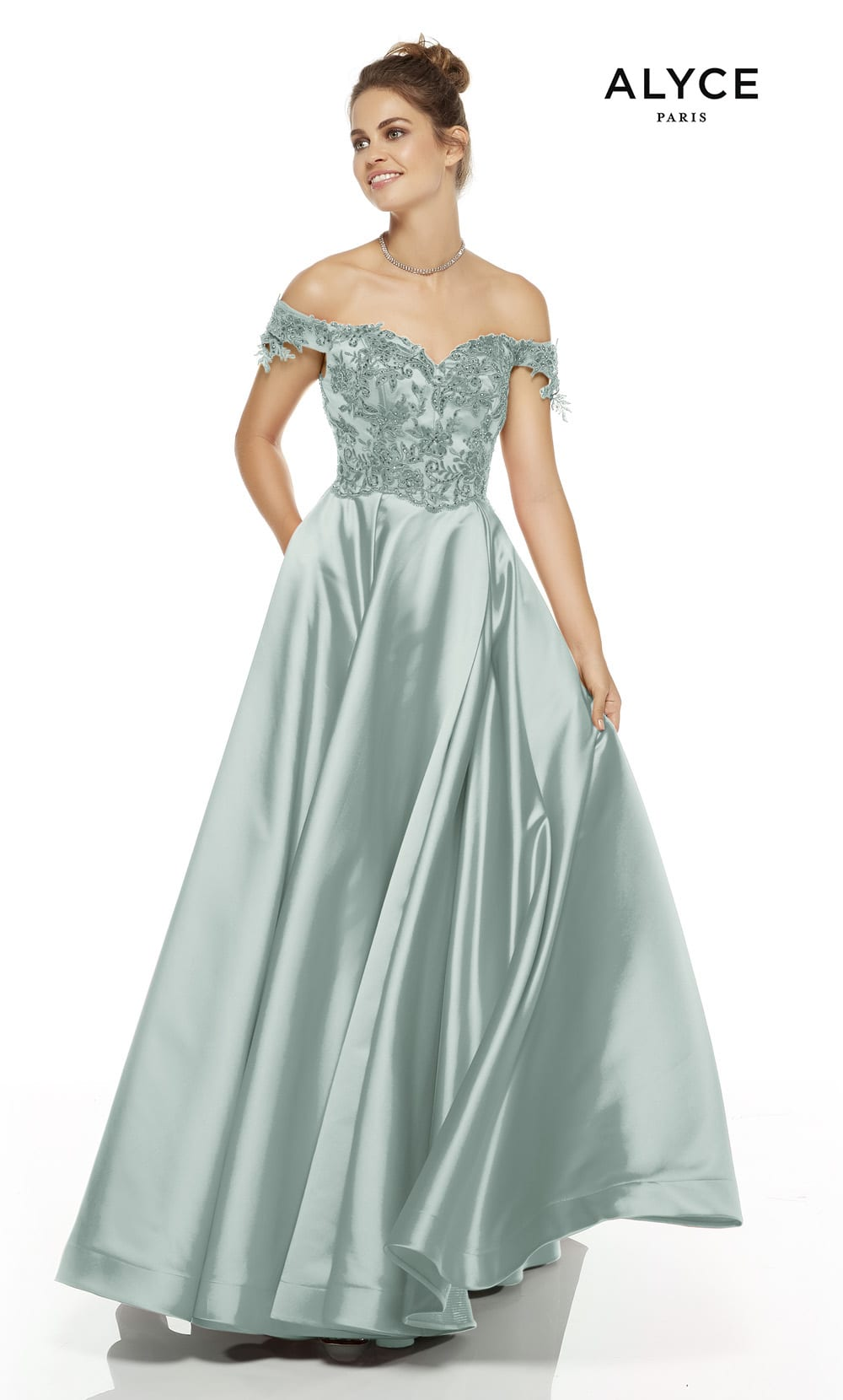 Alyce ball gown prom dress